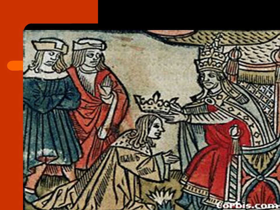 ΚΑΡΟΛΙΔΕΣ 754 : οι Λομβαρδοί απειλούν το Λάτιο τον ονομάζει προστάτη της ο Πάπας Στέφανος Β' χριστιανοσύνης και της ζητά την βοήθεια του Πιπίνου παποσύνης Ο Πιπίνος εισβάλλει στην Ιταλία και εκδιώκει τους Λομβαρδούς Παραχωρεί αυτά τα εδάφη στον πάπα 756 : Δημιουργία Παπικού Κοσμικού Κράτους