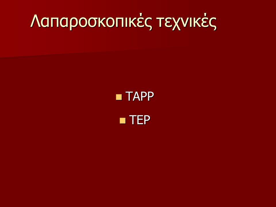Λαπαροσκοπικές τεχνικές TAPP TAPP TEP TEP