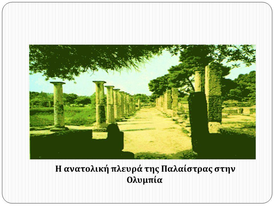 Η ανατολική πλευρά της Παλαίστρας στην Ολυμπία