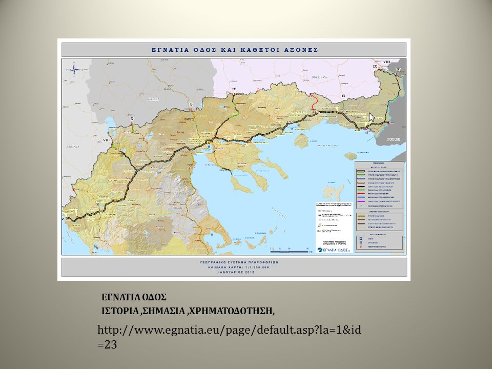 EΓΝΑΤΙΑ ΟΔΟΣ ΕΓΝΑΤΙΑ ΟΔΟΣ ΕΓΝΑΤΙΑ ΟΔΟΣ ΙΣΤΟΡΙΑ,ΣΗΜΑΣΙΑ,ΧΡΗΜΑΤΟΔΟΤΗΣΗ, http://www.egnatia.eu/page/default.asp?la=1&id =23
