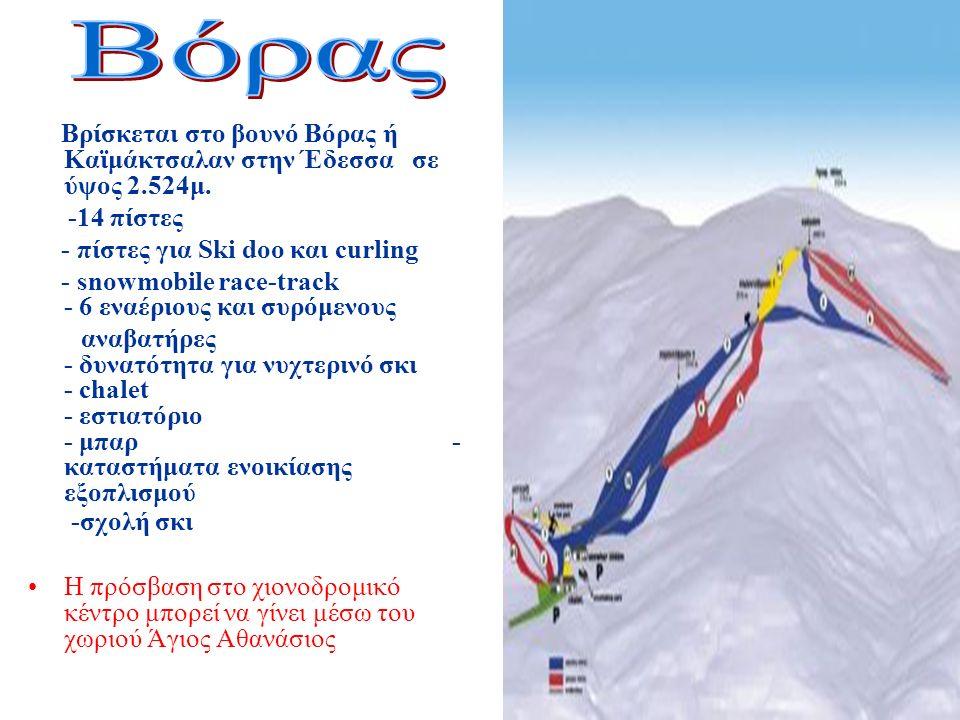 Βρίσκεται στο βουνό Βόρας ή Καϊμάκτσαλαν στην Έδεσσα σε ύψος 2.524μ.