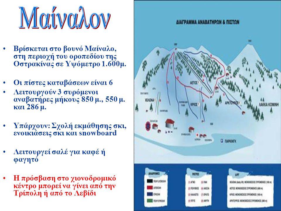 Βρίσκεται στο βουνό Μαίναλο, στη περιοχή του οροπεδίου της Οστρακίνας σε Υψόμετρο 1.600μ.