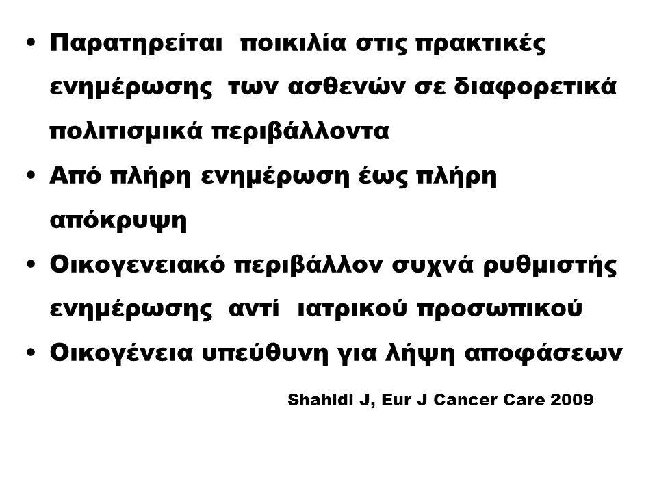Σήμερα, ποια η επικρατούσα προσέγγιση στην Ελλάδα ;