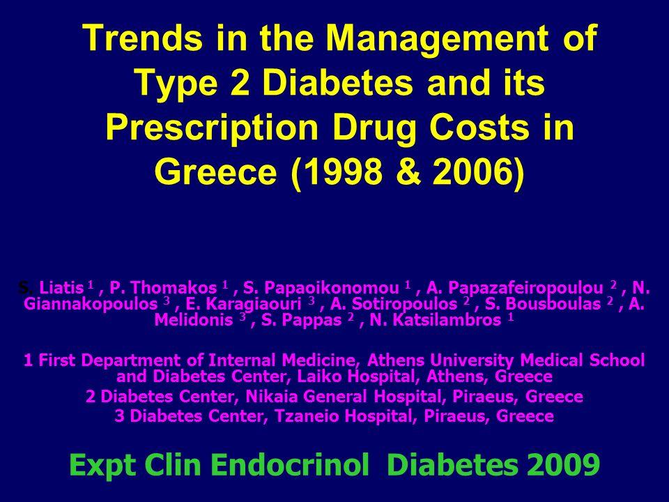 Φαρμακευτική Αγωγή 1998-2006 Γ΄ Παθολογικό Τμήμα & Διαβητολογικό Κέντρο Γ.Ν.Νίκαιας – Πειραιά