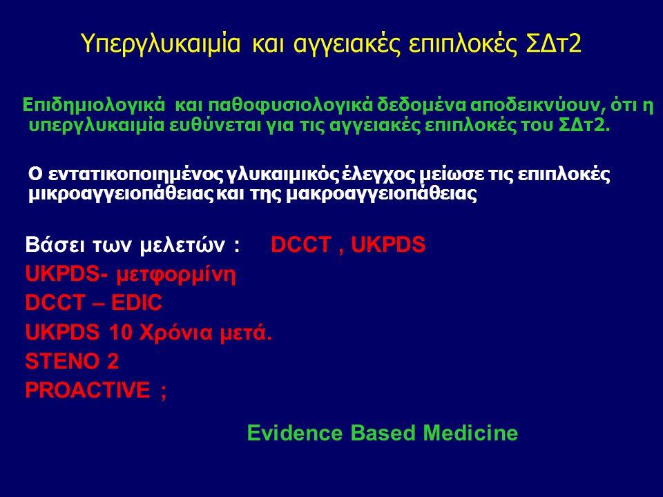 Αντιδιαβητική αγωγή και ΚΑΝ. Ερωτήματα –Προβληματισμοί 2010 Υπάρχει σχέση ΣΔτ2Δ – Υπεργλυκαιμίας, Hba1-c - και Επιπλοκών?