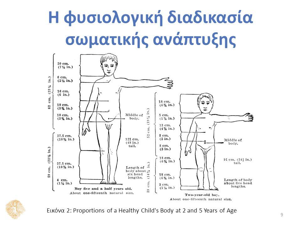 Η φυσιολογική διαδικασία σωματικής ανάπτυξης 9 Εικόνα 2: Proportions of a Healthy Child s Body at 2 and 5 Years of Age