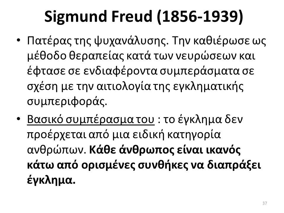 Sigmund Freud (1856-1939) Πατέρας της ψυχανάλυσης.