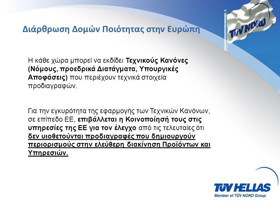 ΠοιότηταΠεριβάλλον Υγεία & Ασφάλεια Εργαζομένων Διαχειριστική Επάρκεια ISO 9001:2008 AS /EN 9100,9110,9120 EN 15038 : 2006 ISO 29990 : 2010 ELOT 1433 EN 15733 :2009 ISO / TS 16949:2009 ISO 14001: 2004, ISO 50001:2011 EMAS III CO2 FOOTPRINT OHSAS 18001:2007 ΕΛΟΤ 1801:2008 ISO 39001:2012 ΕΛΟΤ 1429 ΕΛΟΤ 1435 Εταιρική Κοινωνική Ευθύνη Ιατροτεχνολογικά Προϊόντα - Καλλυντικά Πληροφορική SA 8000, GRI DS -26001 ISO 13485:2012, ΦΕΚ 32B/2004 ISO 22716:2008 ISO 27001 : 2013 ISO / IEC 20000-1:2011 ISO 22301:2012 Συστήματα Διαχείρισης σε όλο το εύρος της βιομηχανίας και των υπηρεσιών