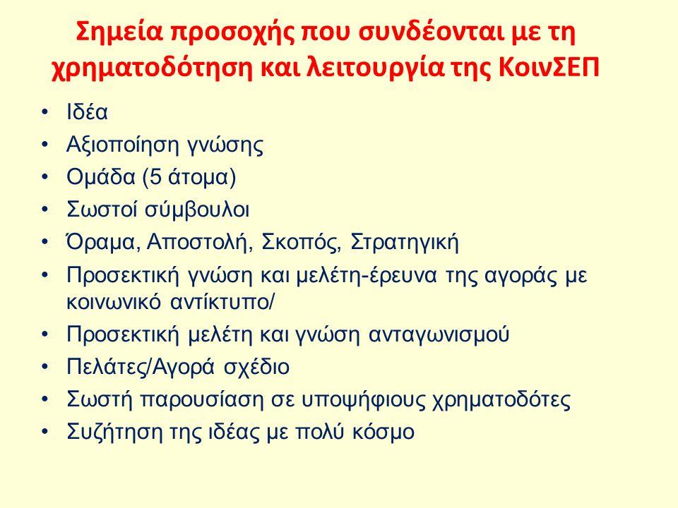 Παροχή συμβουλών (στρατηγική, χρηματοοικονομικά, οργάνωση), δίκτυα επαφών για προσέλκυση πελατών, δεν απαιτούνται εγγυήσεις Χαρακτηριστικά παραδείγματα στην Ελλάδα αποτελούν οι εταιρείες Goody s, Γερμανός και Chipita, ενώ στο εξωτερικό είναι οι Microsoft, Amazon και Yahoo.