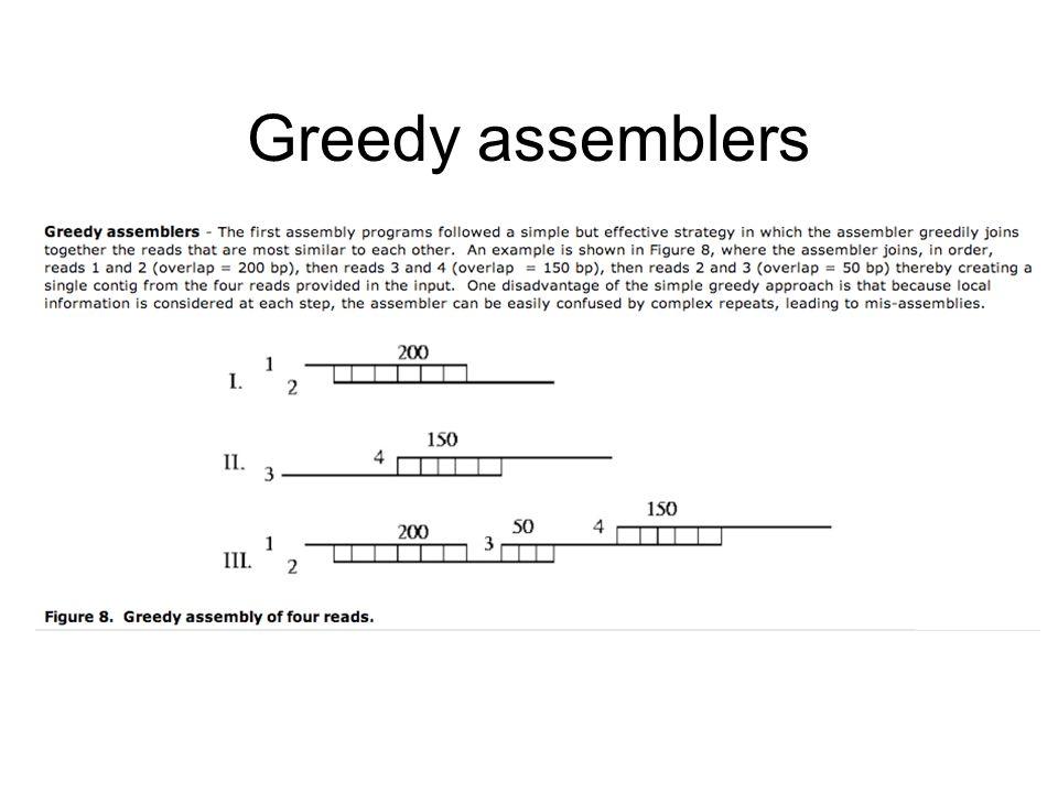 Greedy assemblers