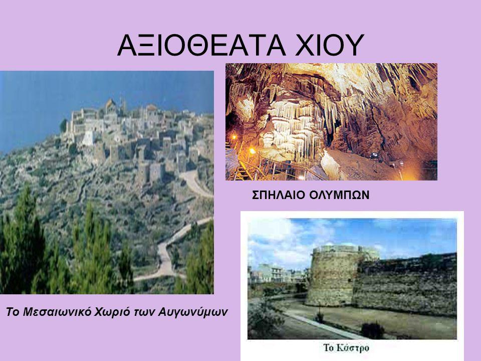 ΑΞΙΟΘΕΑΤΑ ΧΙΟΥ Το Μεσαιωνικό Χωριό των Αυγωνύμων ΣΠΗΛΑΙΟ ΟΛΥΜΠΩΝ