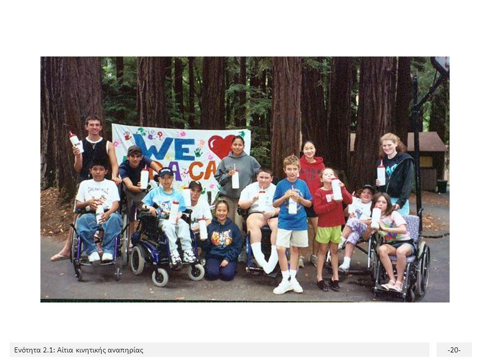 Ενότητα 2.1: Αίτια κινητικής αναπηρίας-20-