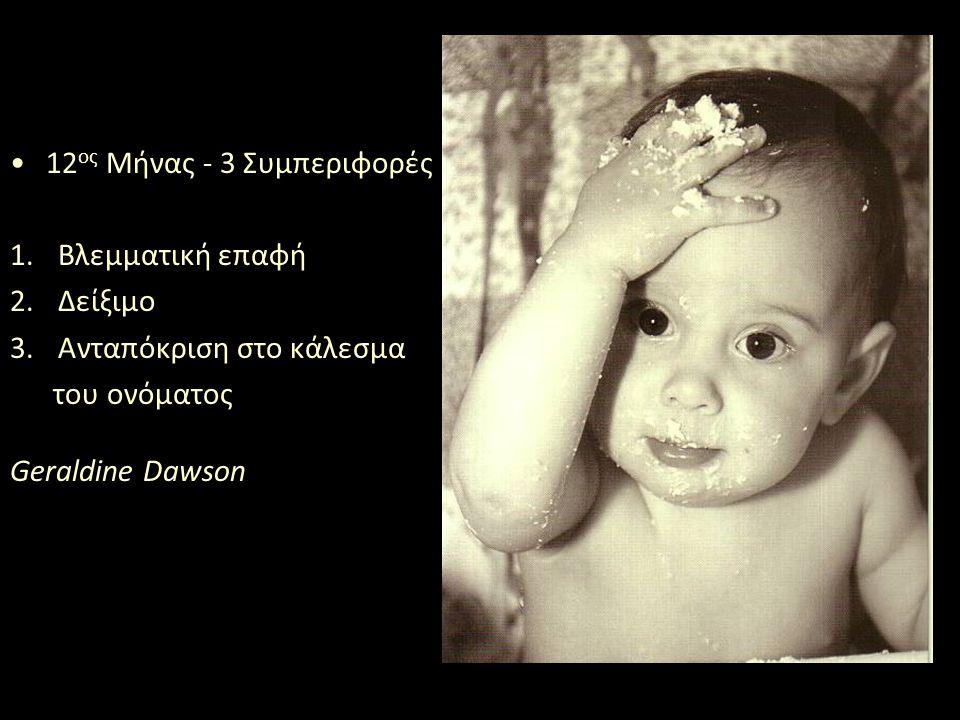 Παιδιά 14 μηνών εκδηλώνουν συνδυαστική προσοχή.