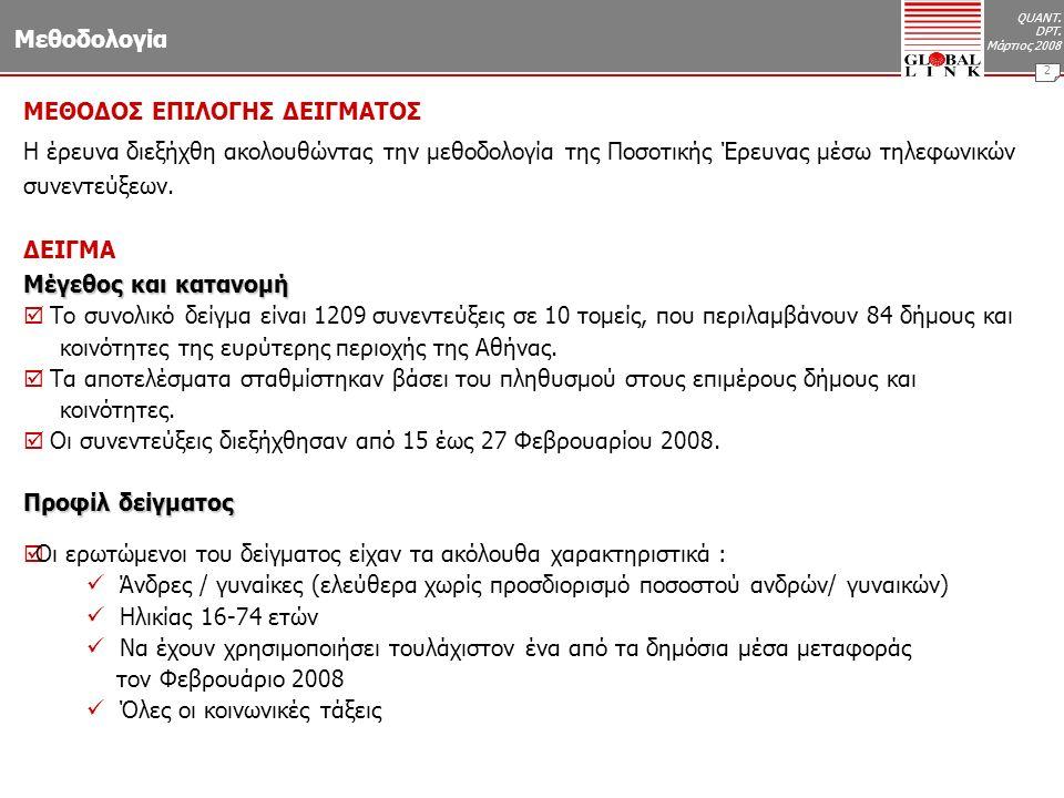 QUANT. DPT. Μάρτιος 2008 13 Αξιολόγηση πηγής πληροφόρησης Βάση : Όσοι πληροφορούνται (n=856)