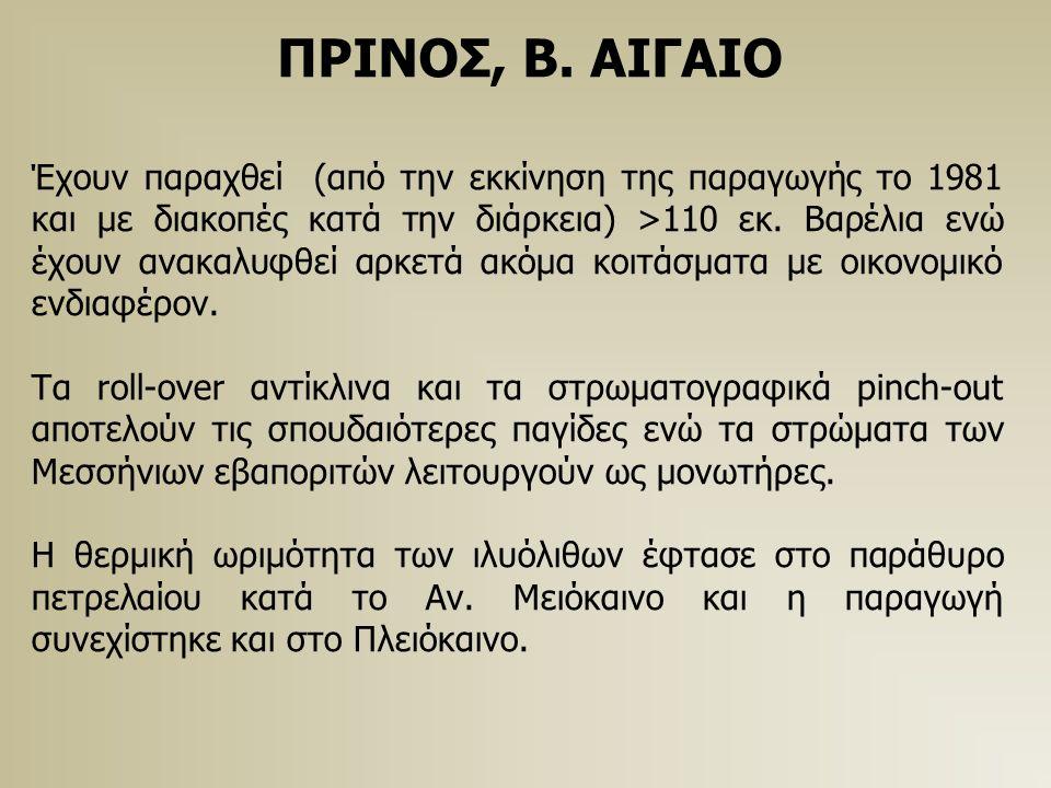 ΠΡΙΝΟΣ, Β. ΑΙΓΑΙΟ