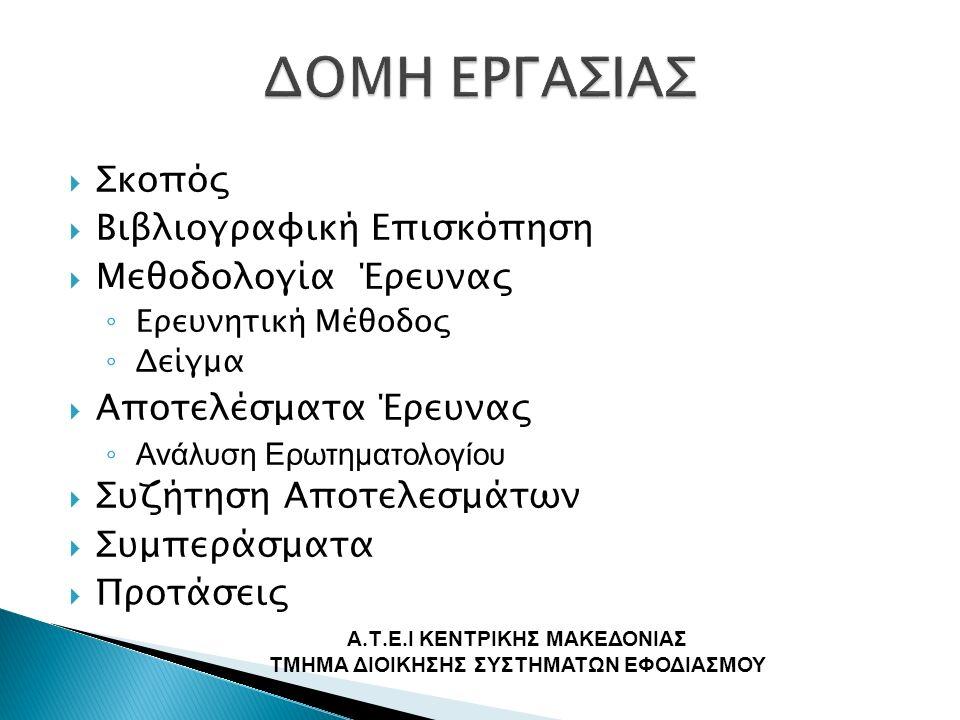  Αποτύπωση και καταγραφή των συστημάτων αποθήκευσης  Παρατήρηση των λειτουργιών και διαδικασιών αποθήκευσης  Προτάσεις για την αντιμετώπιση των προβλημάτων Α.