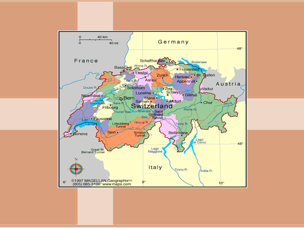 ΠΡΩΤΕΥΟΥΣΑ-ΜΕΓΑΛΕΣ ΠΟΛΕΙΣ Πρωτεύουσα της Ελβετίας είναι η Βέρνη (128.041 κάτοικοι το 2007) ενώ μεγαλύτερη πόλη η Ζυρίχη.