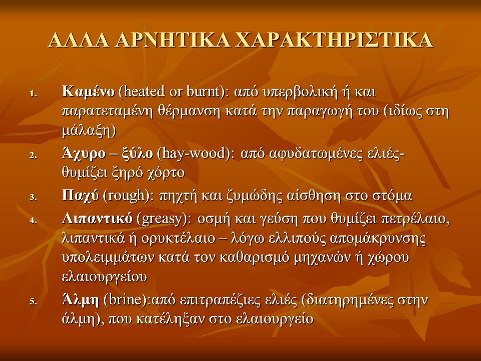 ΑΛΛΑ ΑΡΝΗΤΙΚΑ ΧΑΡΑΚΤΗΡΙΣΤΙΚΑ 1.