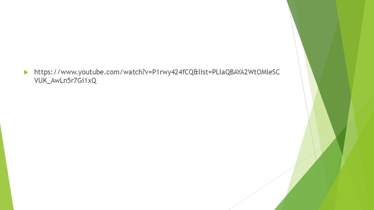  https://www.youtube.com/watch?v=P1rwy424fCQ&list=PLlaQBAYA2WtOMleSC VUK_AwLn5r7Gi1xQ