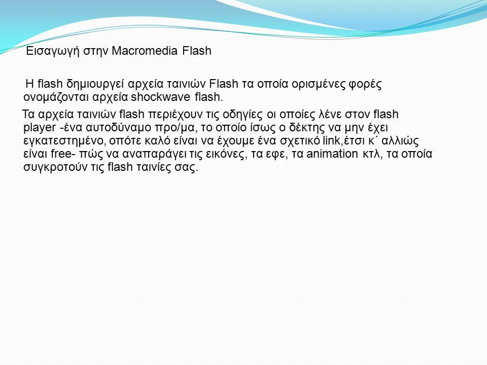 H flash δημιουργεί αρχεία ταινιών Flash τα οποία ορισμένες φορές ονομάζονται αρχεία shockwave flash. Τα αρχεία ταινιών flash περιέχουν τις οδηγίες οι
