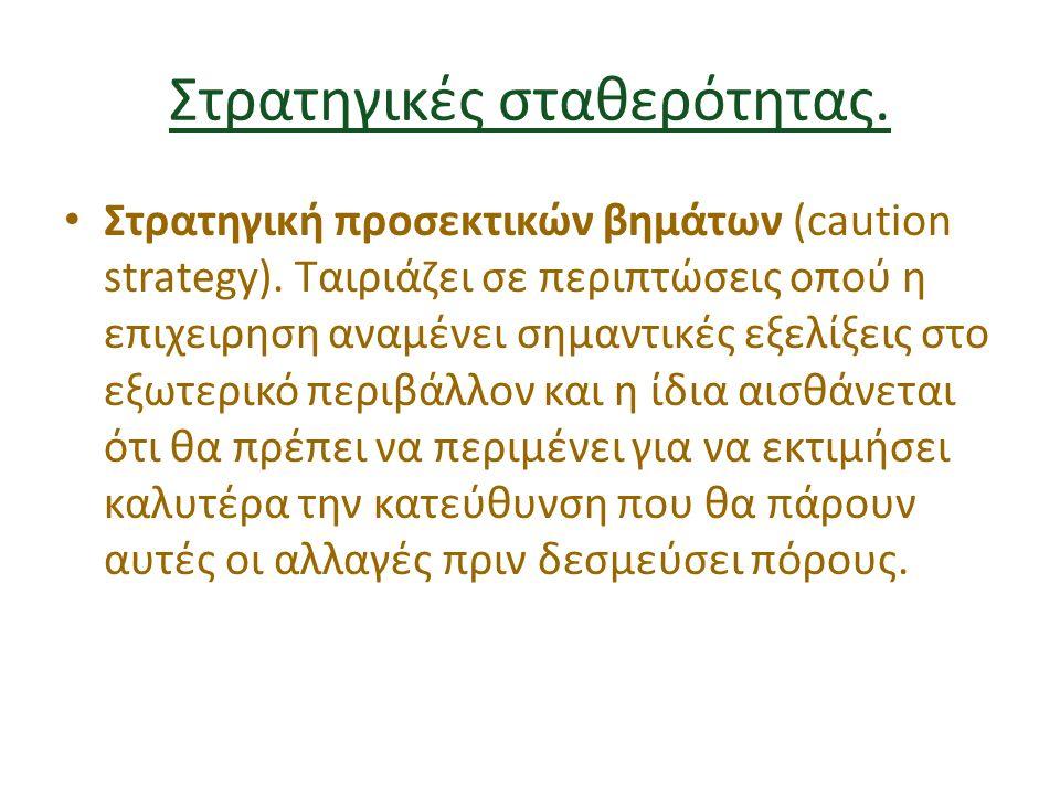 Στρατηγικές σταθερότητας. Στρατηγική προσεκτικών βημάτων (caution strategy).