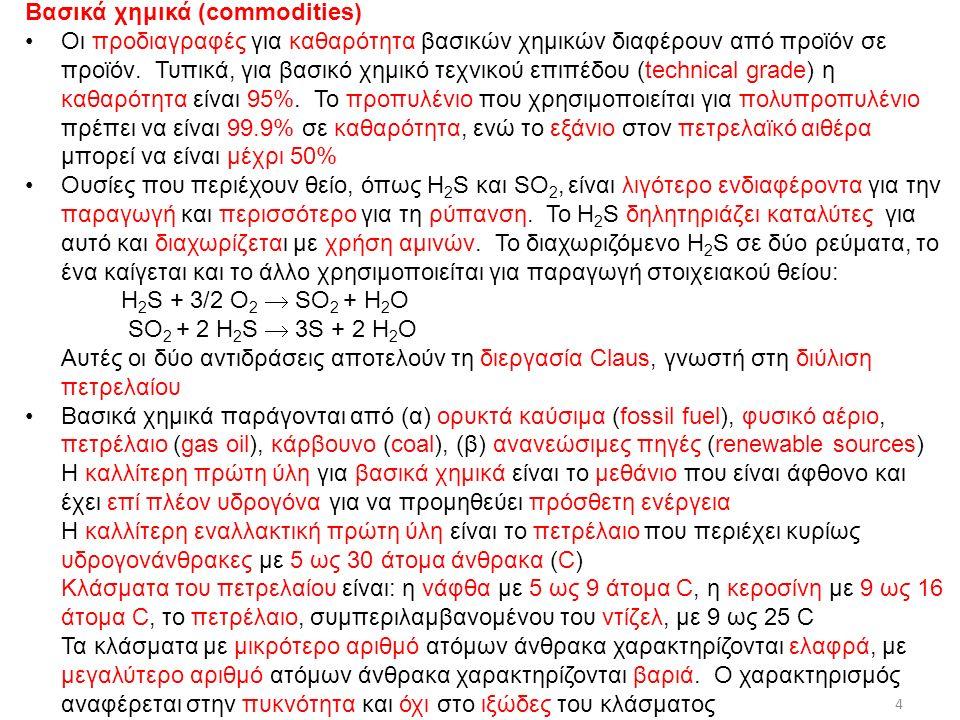 Διαστατική Ανάλυση (Dimensional Analysis) Παράδειγμα – Δύναμη F που ενεργεί σε σφαίρα, με διάμετρο d, κινούμενη με σταθερή ταχύτητα U σε ρευστό, με πυκνότητα ρ και ιξώδες μ, που ηρεμεί Ας υποθέσουμε ότι η Π 1 βασίζεται στη μεταβλητή F και η Π 2 στη μεταβλητή d, Π 1 = F d a U b ρ c (5) καιΠ 2 = d U α ρ β μ γ (6) (5) ⇒ [ Π 1 ] = M L t -2 L a L b t -b M c L -3c = M 1+c L a+1+b-3c t -2-b ⇒ 1 + c = 0(7a) a + 1 + b - 3c = 0(7b) -2 – b = 0(7c) With (7a), (7b), (7c) ⇒ c = -1, b = -2, a = -2 ⇒ Π 1 = F / (d 2 U 2 ρ) (8) f : συντελεστής οπισθέλκουσας ή συντελεστής τριβής 456/11/2015ΔΧ