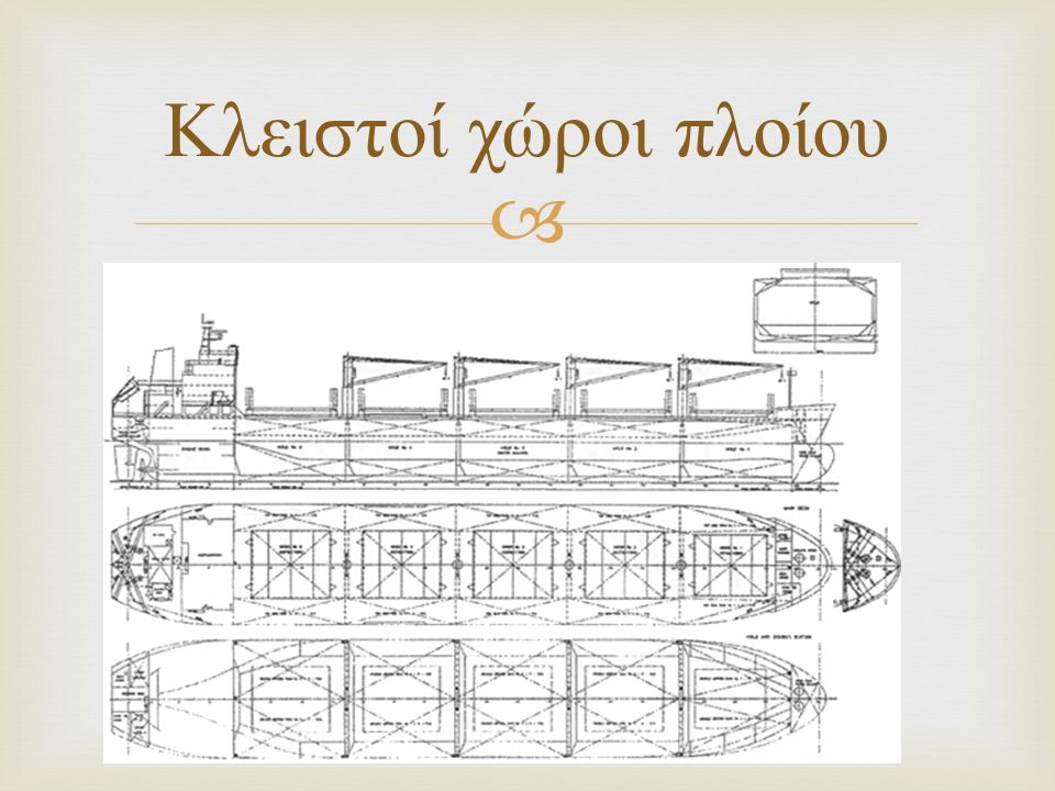  Κλειστοί χώροι πλοίου