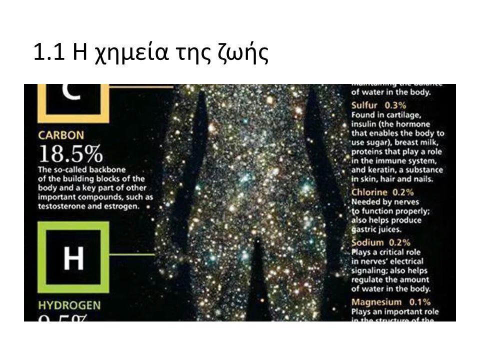 1.1 Η χημεία της ζωής