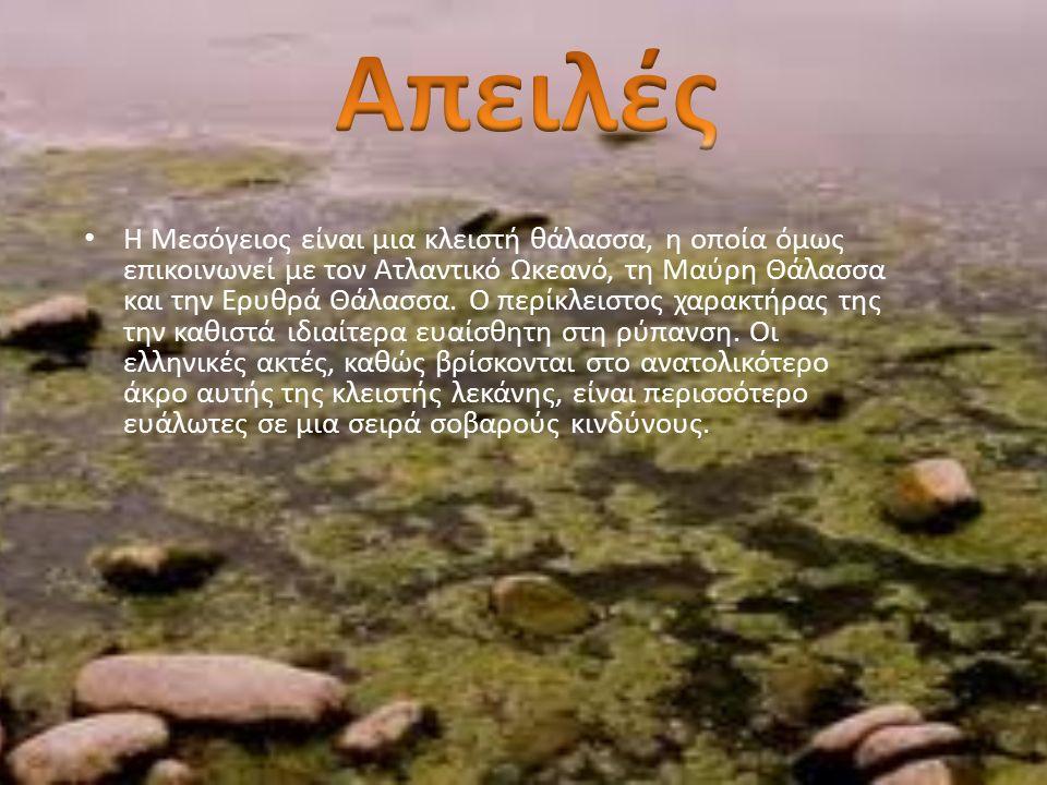 Η Μεσόγειος είναι μια κλειστή θάλασσα, η οποία όμως επικοινωνεί με τον Ατλαντικό Ωκεανό, τη Μαύρη Θάλασσα και την Ερυθρά Θάλασσα.