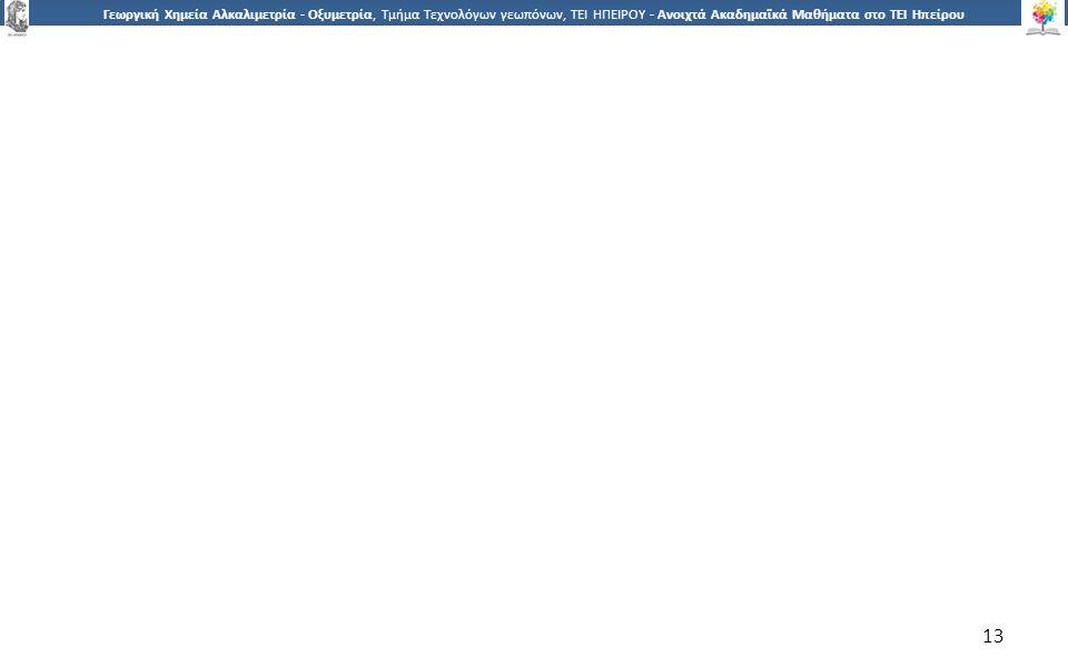 1313 Γεωργική Χημεία Αλκαλιμετρία - Οξυμετρία, Τμήμα Τεχνολόγων γεωπόνων, ΤΕΙ ΗΠΕΙΡΟΥ - Ανοιχτά Ακαδημαϊκά Μαθήματα στο ΤΕΙ Ηπείρου 13