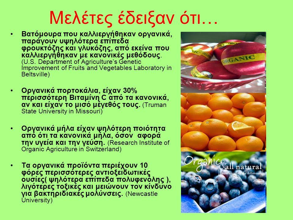 Μελέτες έδειξαν ότι… Βατόμουρα που καλλιεργήθηκαν οργανικά, παράγουν υψηλότερα επίπεδα φρουκτόζης και γλυκόζης, από εκείνα που καλλιεργήθηκαν με κανονικές μεθόδους.