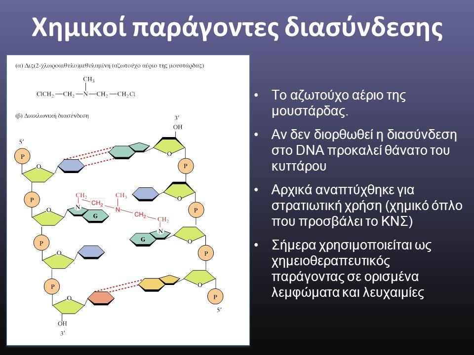 Χημικοί παράγοντες διασύνδεσης Το αζωτούχο αέριο της μουστάρδας.
