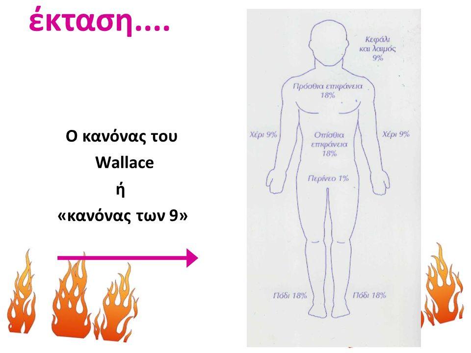 έκταση.... Ο κανόνας του Wallace ή «κανόνας των 9»