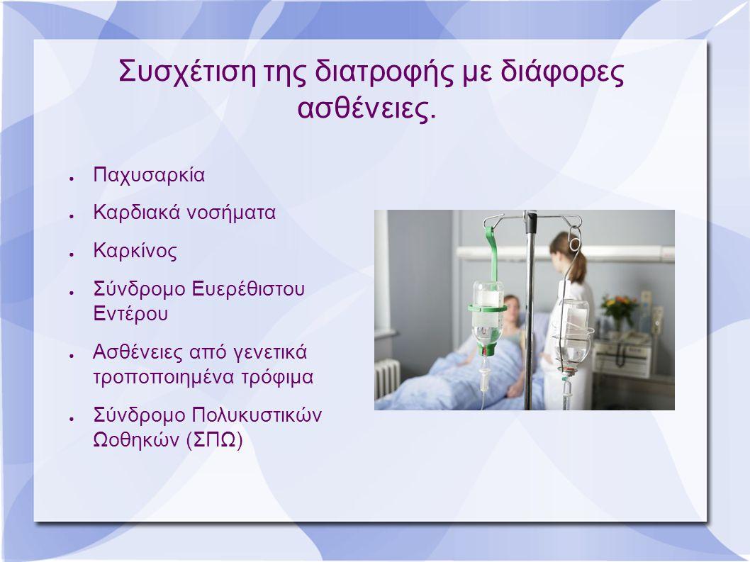 Συσχέτιση της διατροφής με διάφορες ασθένειες.