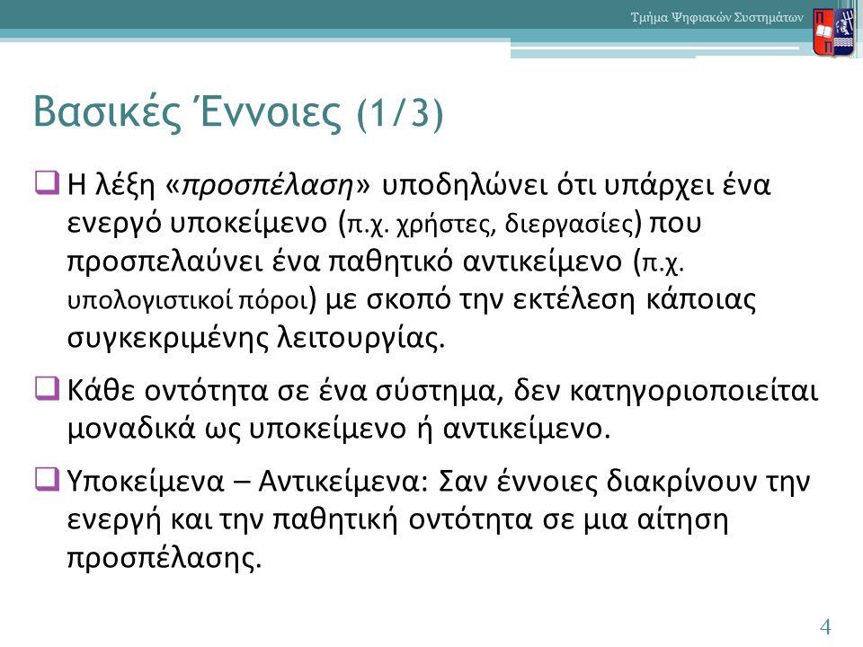 Βασικές Έννοιες (1/3)  Η λέξη «προσπέλαση» υποδηλώνει ότι υπάρχει ένα ενεργό υποκείμενο ( π.χ.