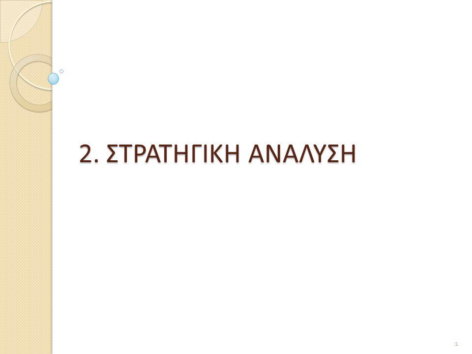 2. ΣΤΡΑΤΗΓΙΚΗ ΑΝΑΛΥΣΗ 1