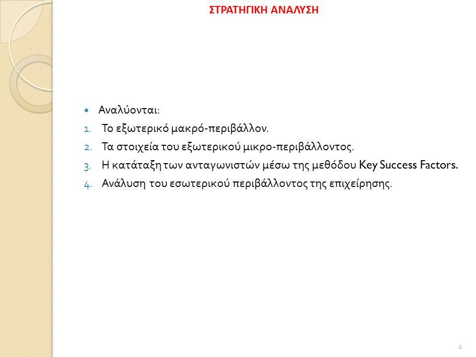 5.SWOT Analysis Η ανάλυση VRIO συνοδεύεται από την SWOT ανάλυση.