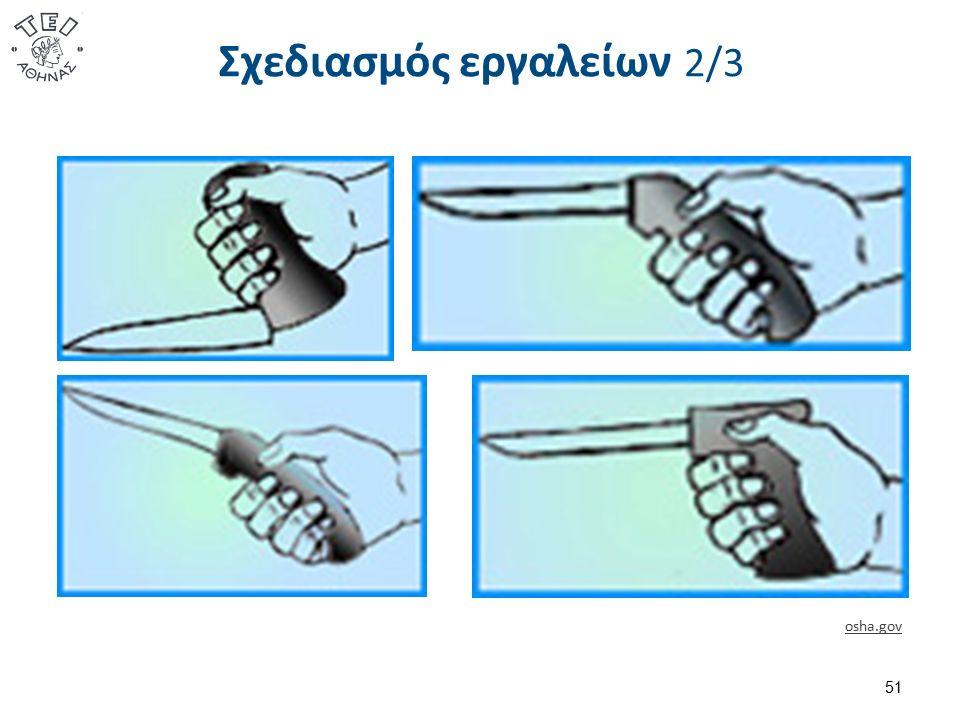 Σχεδιασμός εργαλείων 2/3 51 osha.gov