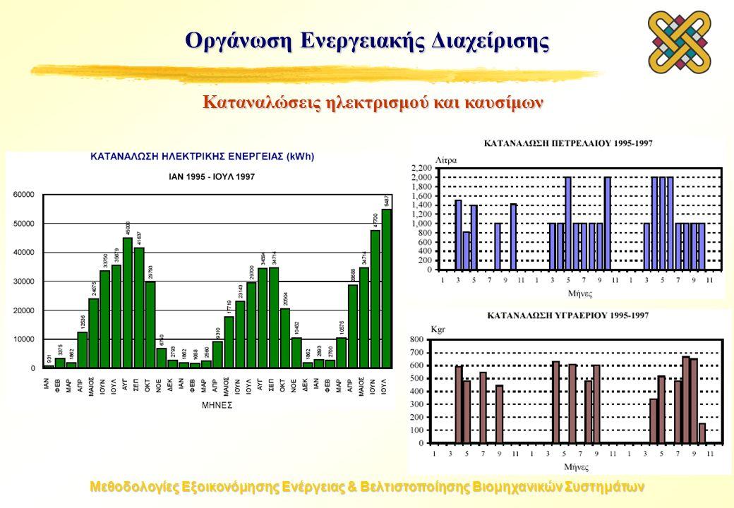 Μεθοδολογίες Εξοικονόμησης Ενέργειας & Βελτιστοποίησης Βιομηχανικών Συστημάτων Οργάνωση Ενεργειακής Διαχείρισης Καταναλώσεις ηλεκτρισμού και καυσίμων