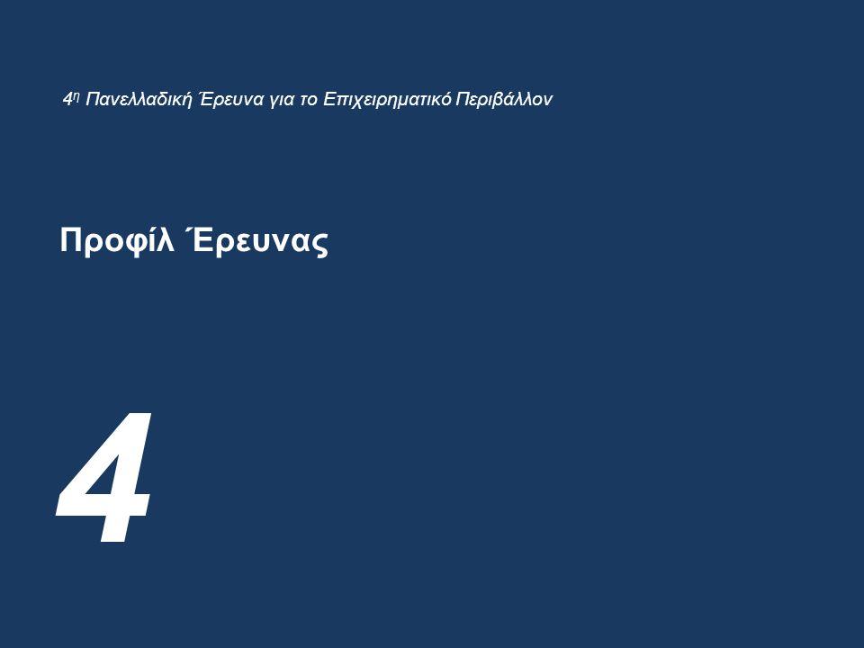 Προφίλ Έρευνας 4 4 η Πανελλαδική Έρευνα για το Επιχειρηματικό Περιβάλλον