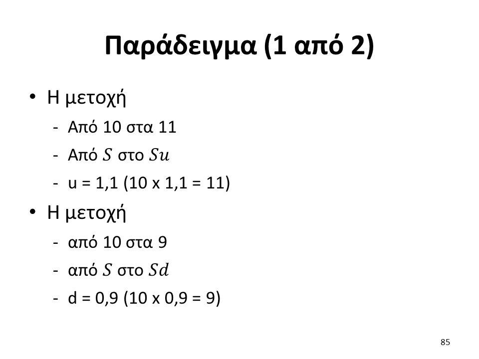 Παράδειγμα (1 από 2) 85