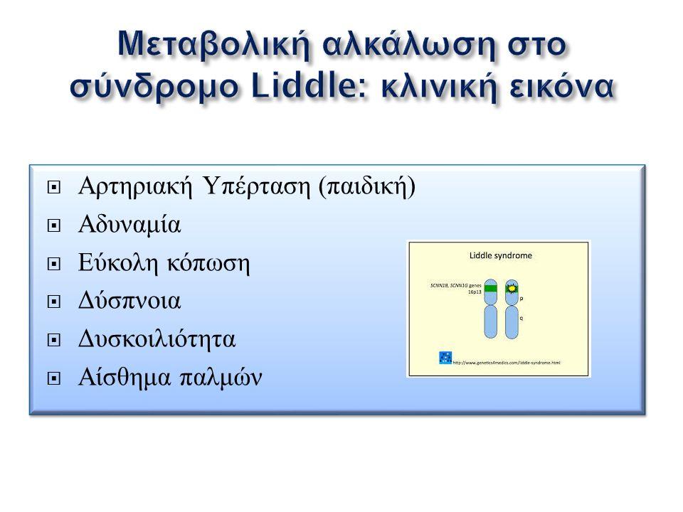  Αρτηριακή Υπέρταση (παιδική)  Αδυναμία  Εύκολη κόπωση  Δύσπνοια  Δυσκοιλιότητα  Αίσθημα παλμών  Αρτηριακή Υπέρταση (παιδική)  Αδυναμία  Εύκο