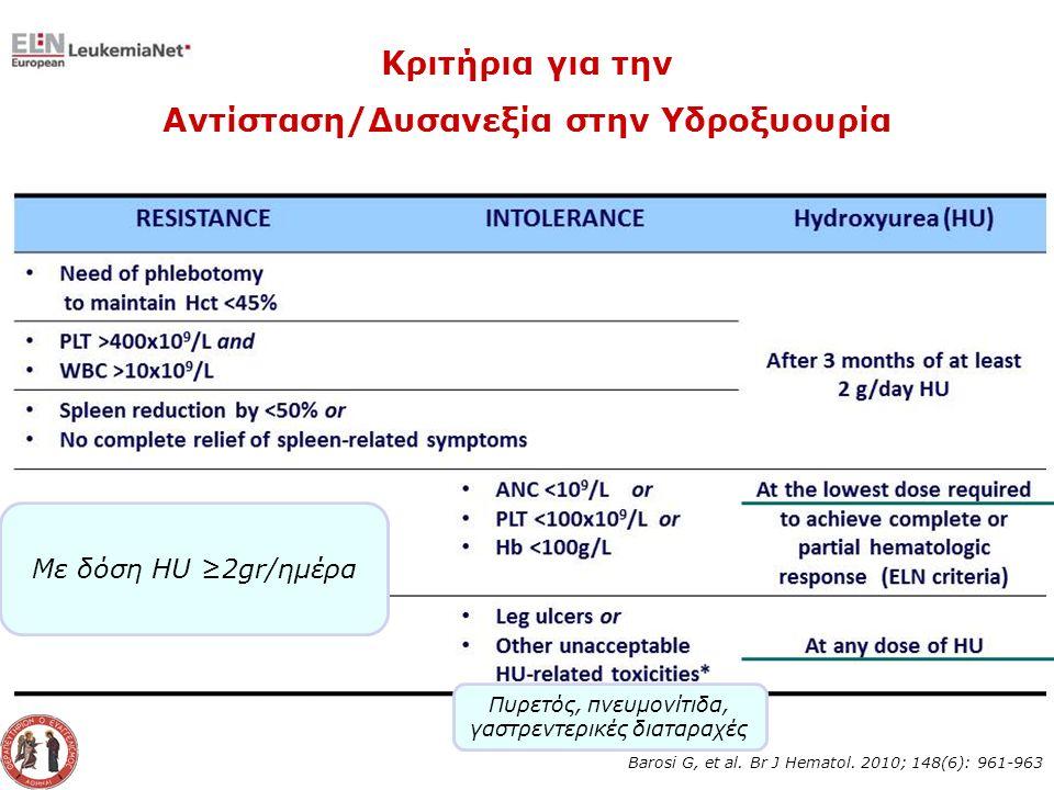 Barosi G, et al. Br J Hematol.