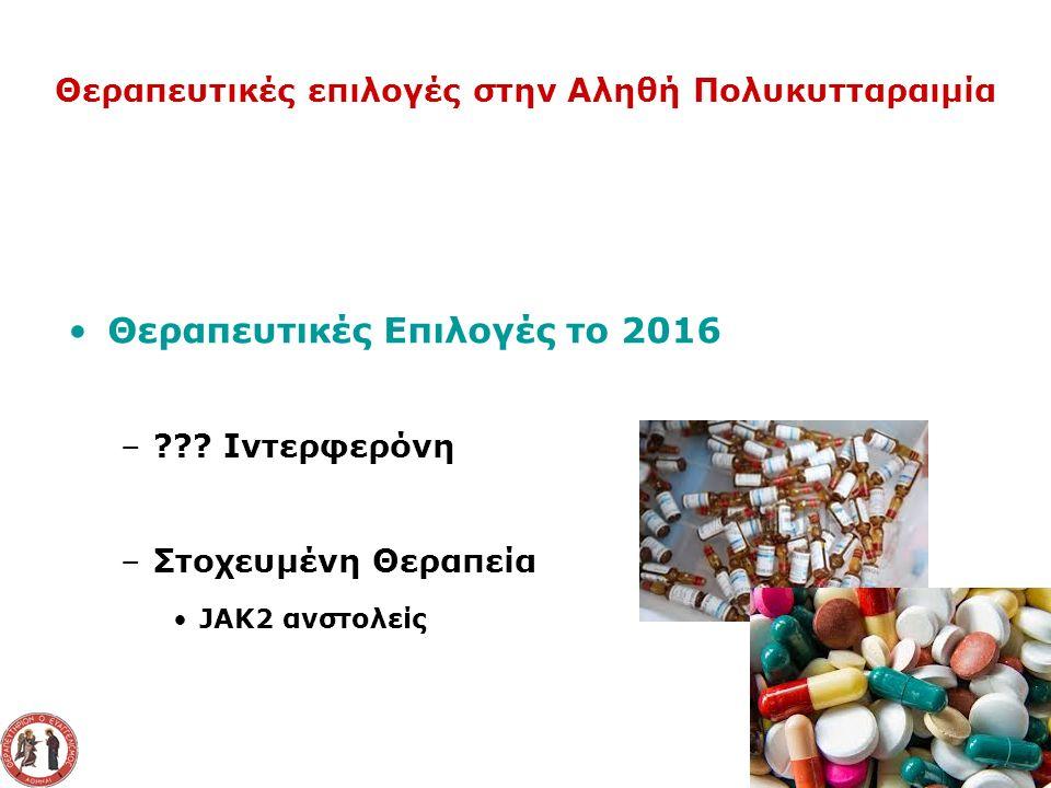 Θεραπευτικές Επιλογές το 2016 – .