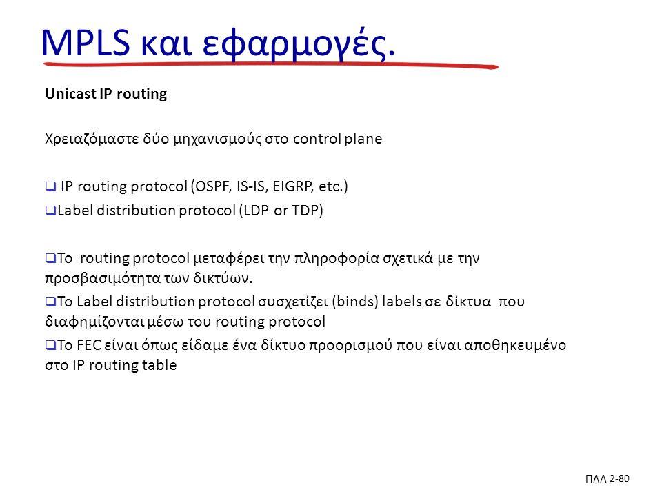 ΠΑΔ 2-80 MPLS και εφαρμογές.