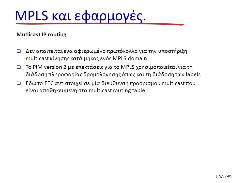 ΠΑΔ 2-81 MPLS και εφαρμογές.