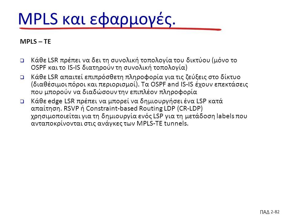 ΠΑΔ 2-82 MPLS και εφαρμογές.