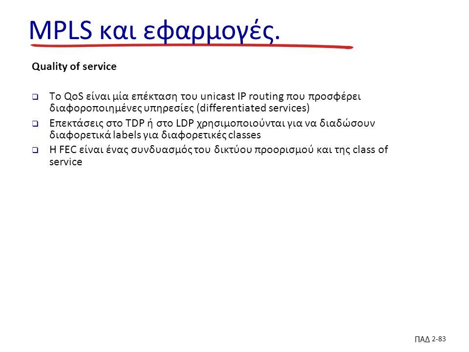 ΠΑΔ 2-83 MPLS και εφαρμογές.