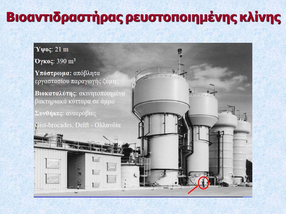 Βιοαντιδραστήρας ρευστοποιημένης κλίνης