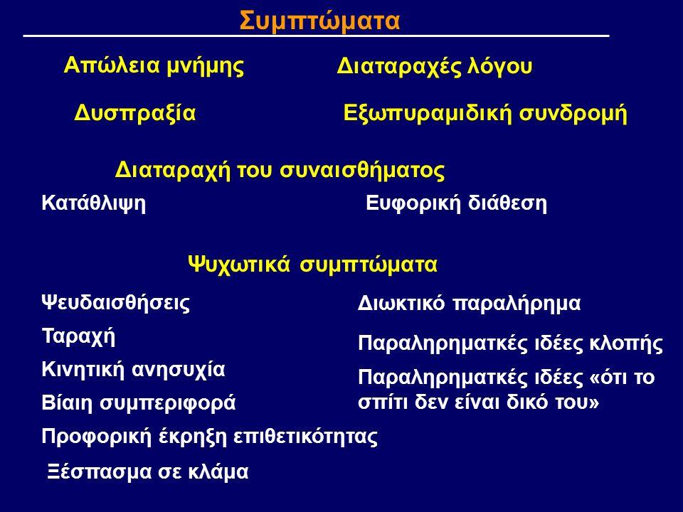 Τυποποιημένες κλίμακες αξιολόγησης: Νευρολογική εξέταση Γνωσιακών διαταραχών (π.χ.